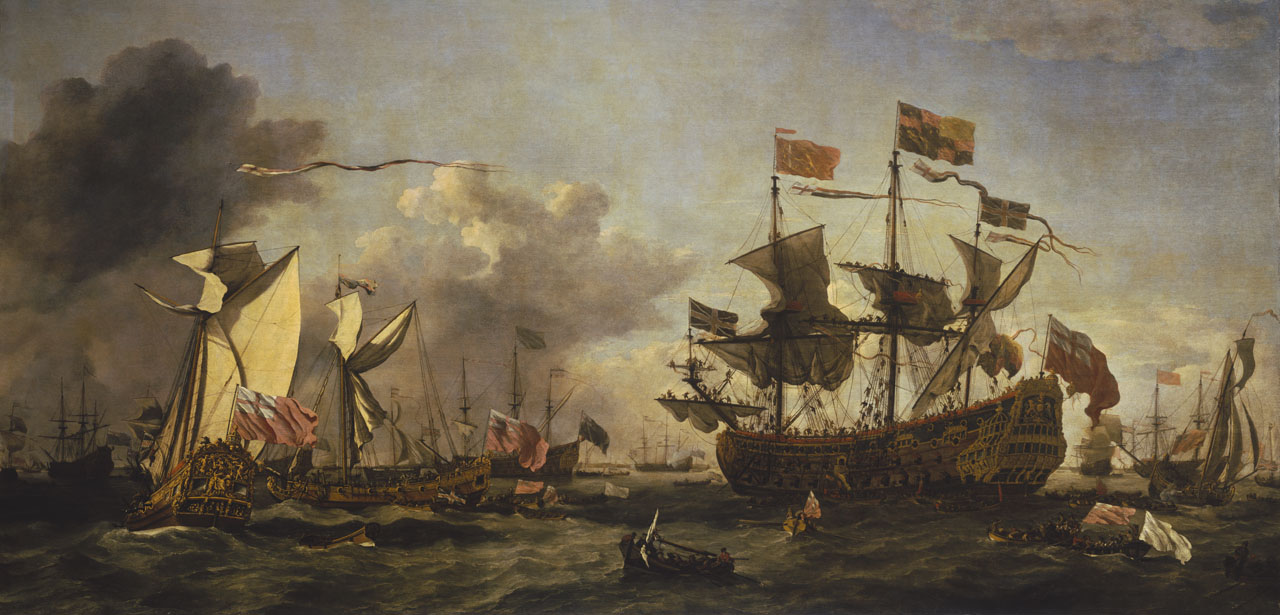 An image showing 'Royal Visit to the Fleet in the Thames Estuary, 6 June 1672'