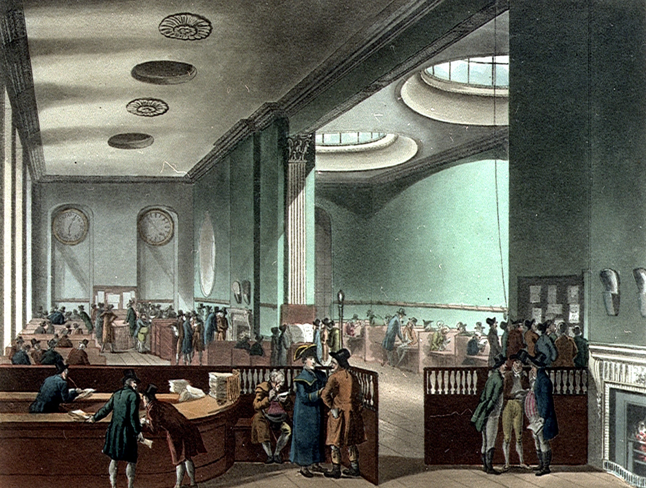 Lloyd's began in Edward Lloyd's coffee house in Tower Street in the City of London during the 17th century. Lloyd himself was not involved in insurance but provided premises, reliable shipping news and a variety of services to enable his clientele of ships' captains, merchants and rich men to carry on their business of insuring ships and their cargoes. These wealthy individuals would each take a share of a risk, signing their names one beneath the other on the policy together, with the amount they agreed to cover. For this reason they were known as 'underwriters'. By the end of the 18th century the underwriters had elected a committee and moved to their own premises in the Royal Exchange.