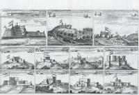 Views of Forts and Castles along the Gold Coast, West Africa circa 1660