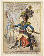 'Buonaparte hearing of Nelson's Victory swears by his Sword to Extirpate the English from off the Earth'