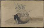Sketch showing the state of HMS Terror on her arrival in Loch Swilly