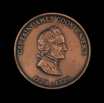 Medal commemorating Captain James Cook (1728-1779)