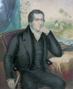 The Rev. John Williams 1796-1839 missionary, with a view of Rarotonga