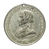Medal commemorating the Trafalgar Square monument