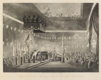 Remains of Lord Viscount Nelson laying in state in the Painted Chamber at Greenwich Hospital