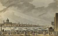 Lord Nelson's Funeral Procession by Water from Greenwich Hospital to White-Hall, Jany 8th 1806