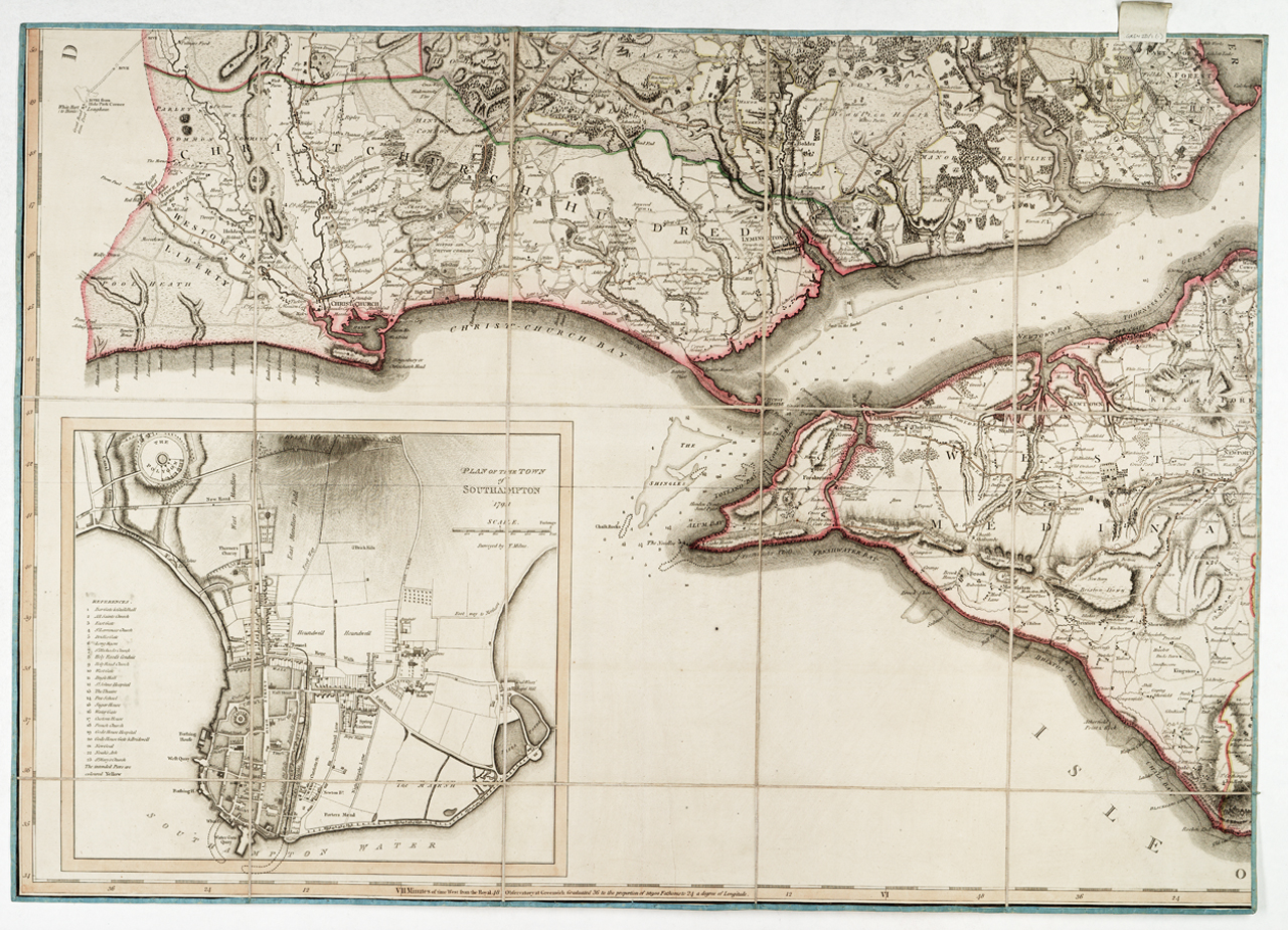 An image showing 'Gren2D/1(5) Hampshire or the County of Southampton including the Isle of Wight [sheet for west Solent]'