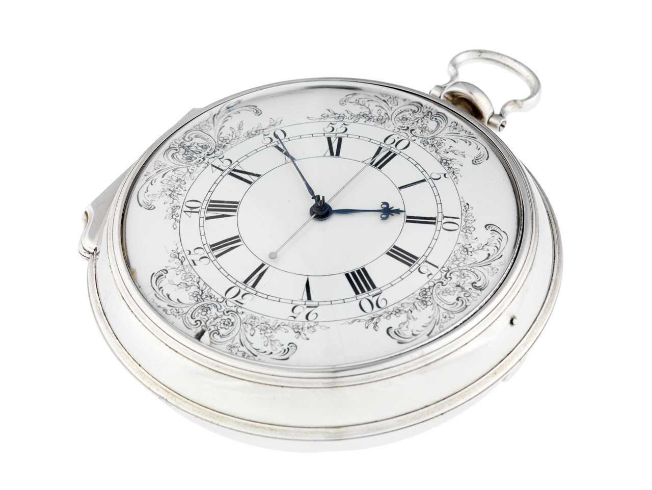 An image showing 'H4 Harrison Marine Timekeeper - 3/4 View Showing Depth of Case'