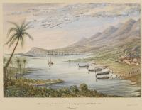"'Attack and Capture of the Rebels positions near Montego Bay by boats from HMS Blanche 1831/ ""Jamaica""'"