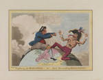 'Fighting for the Dunghill, or, Jack Tar Setting Buonaparte. (caricature)'