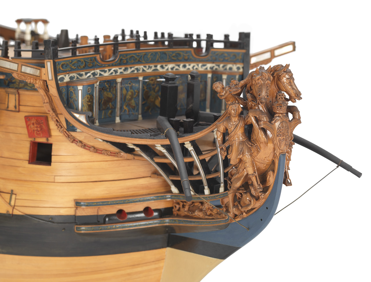 An image showing 'Royal George (1756); Warship; First rate; 100 guns - Figurehead'